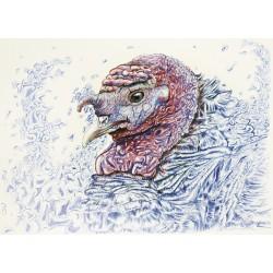 Original Acryl - Gertrude van Turkey from Gobblempire
