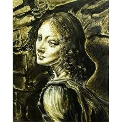 Original Gemälde - Da Vinci Remake
